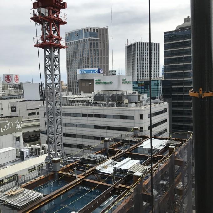 横浜駅 西口ビル 鉄骨工事一式 写真